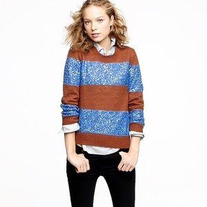 J. Crew Wynter Sweater in Sequin Stripe